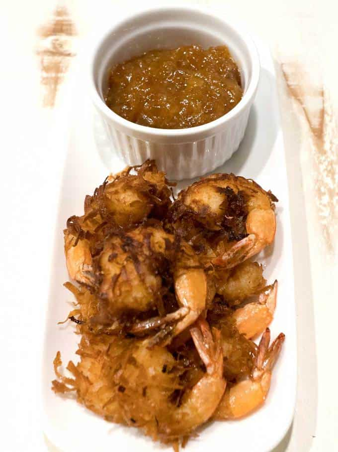 Coconut shrimp with orange marmalade dipping sauce