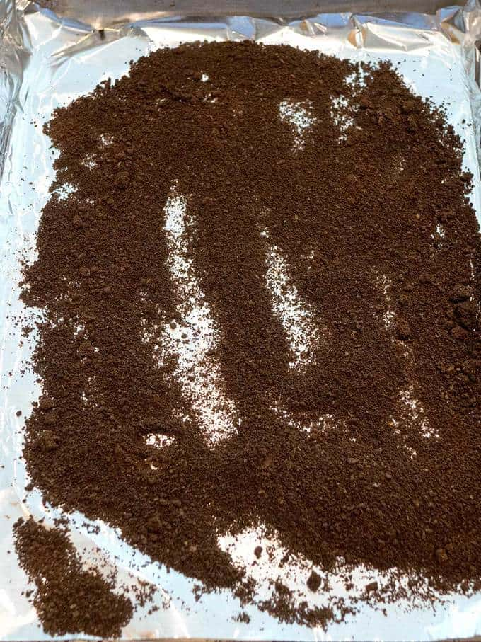 Dried Coffee after 2 1/2 hours