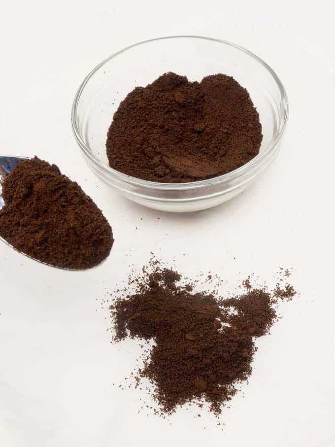 Homemade espresso powder.