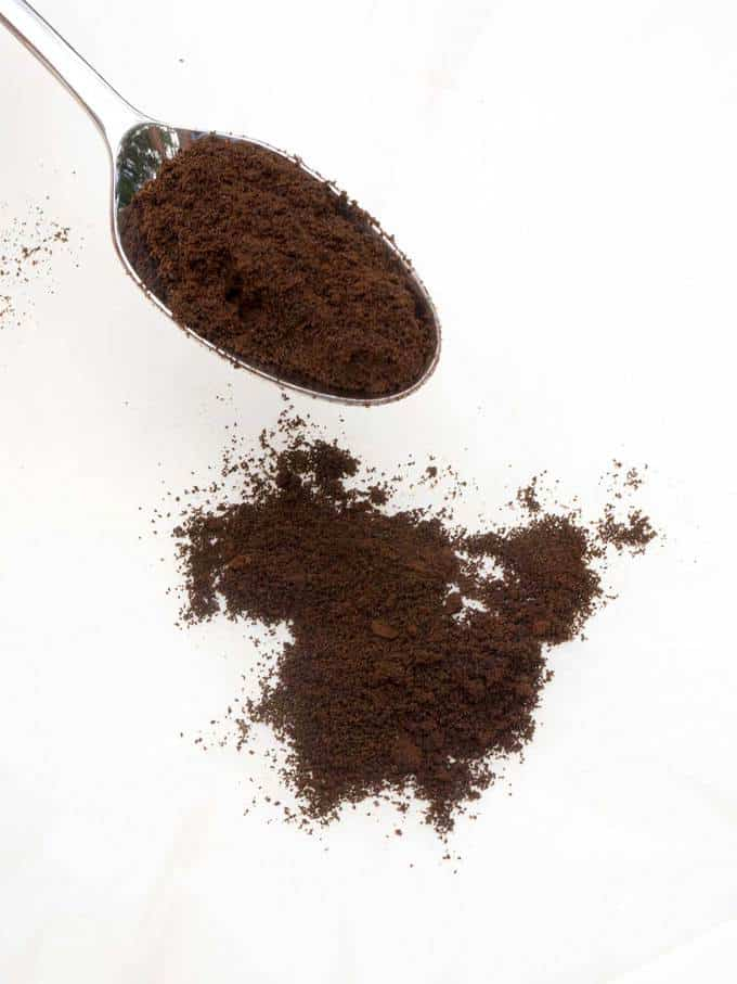 Homemade espresso powder