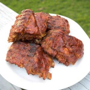 Grilled Baby Back Ribs with Bourbon Infused Grilling Sauce