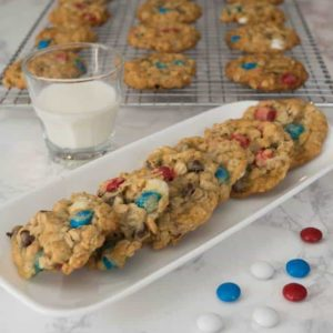 Red White and Blue Backpack Cookies