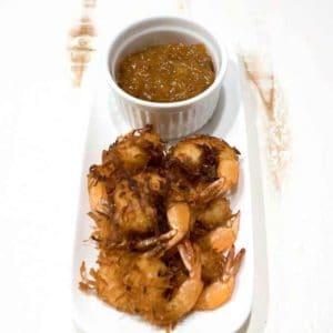 Coconut shrimp with orange marmalade dipping sauce