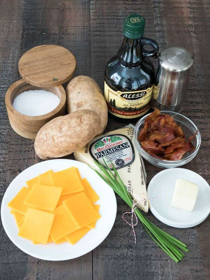 Ingredients for hasselback potatoes