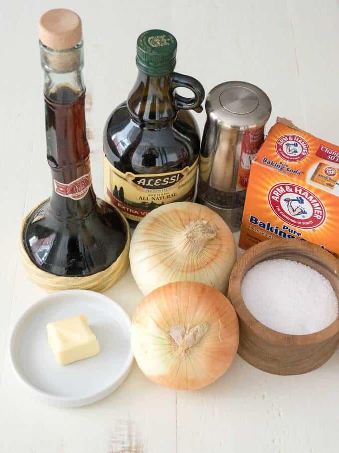 Ingredients for Vidalia Onion Confit