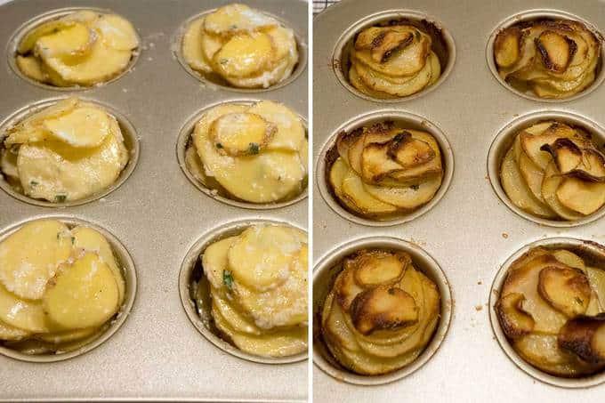 Baking potato roses