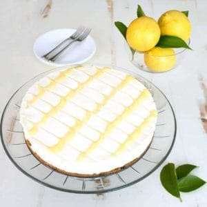 No-bake lemon curd icebox cheesecake