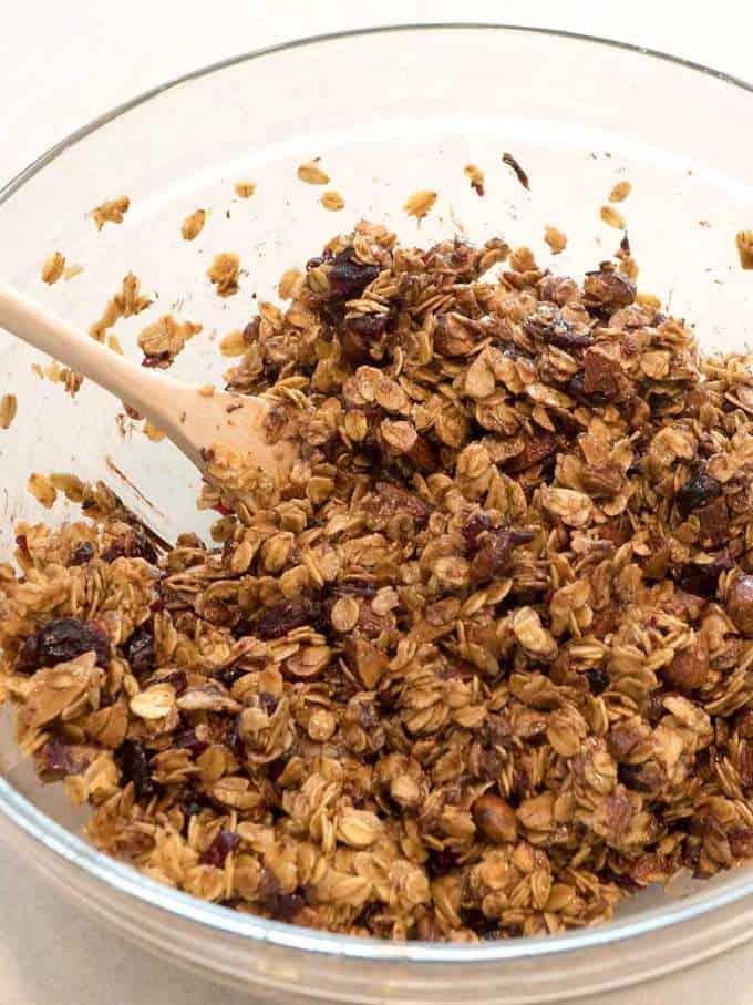 Granola bar mixture