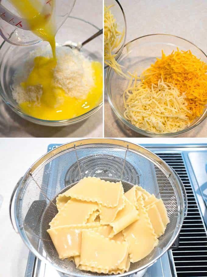 Final preparation for Six Cheese Turkey Lasagna