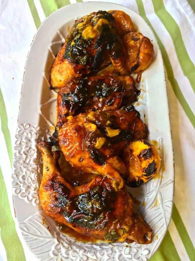 Grilled Chicken with Peach Glaze
