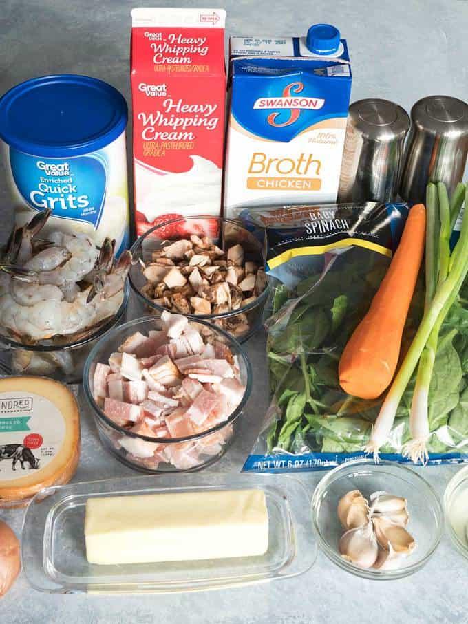 Ingredients for Grits a Ya Ya