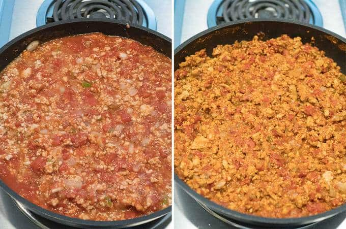 Meat sauce for Six Cheese Turkey Lasagna