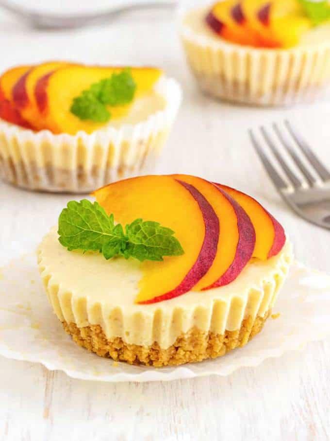No Bake Mini Cheesecake Bites