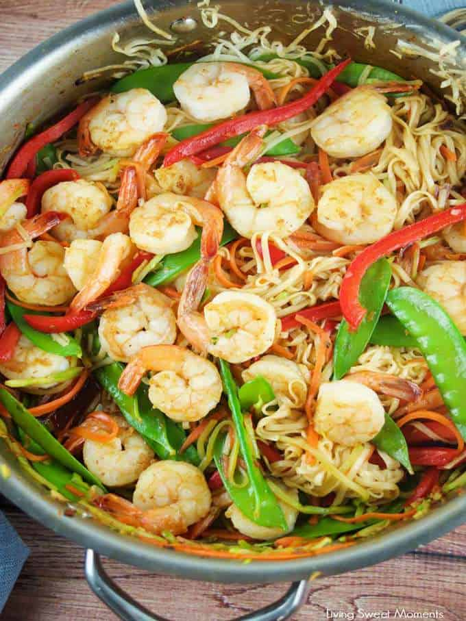 15 Minute Shrimp Lo Mein