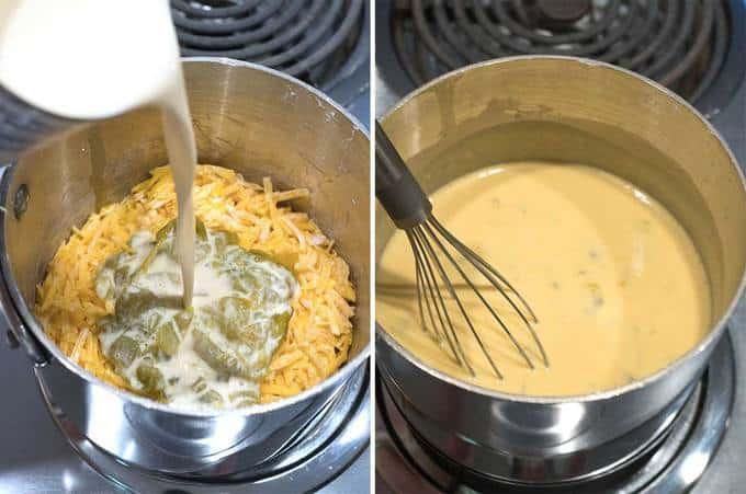 Making Nacho Cheese Sauce