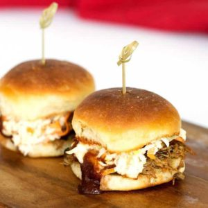 Instant Pot Pulled Pork Sliders with Bourbon Infused Barbecue Sauce