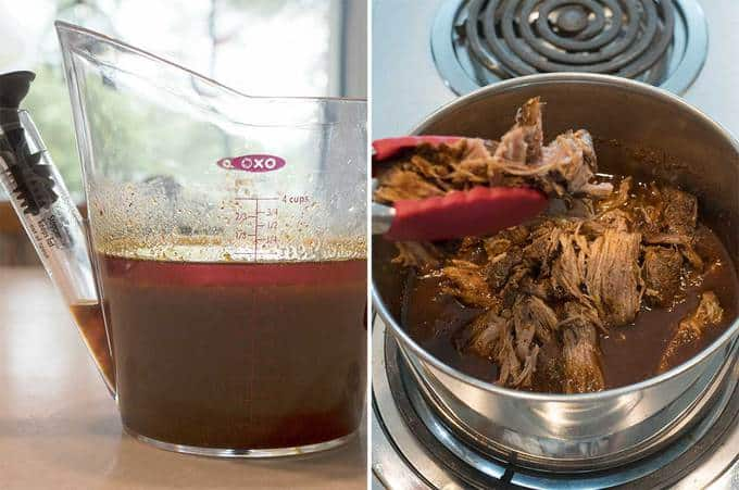 Finishing the Instant Pot Pulled Pork
