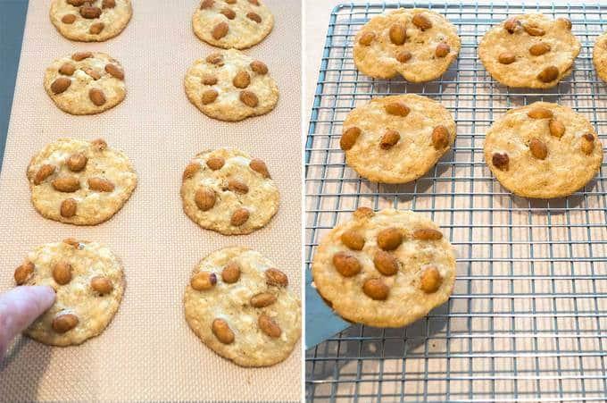 Cooling the Skinny Peanut Cookies