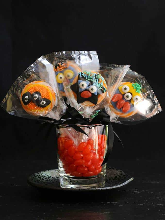 Fun Halloween Monster Lollipops