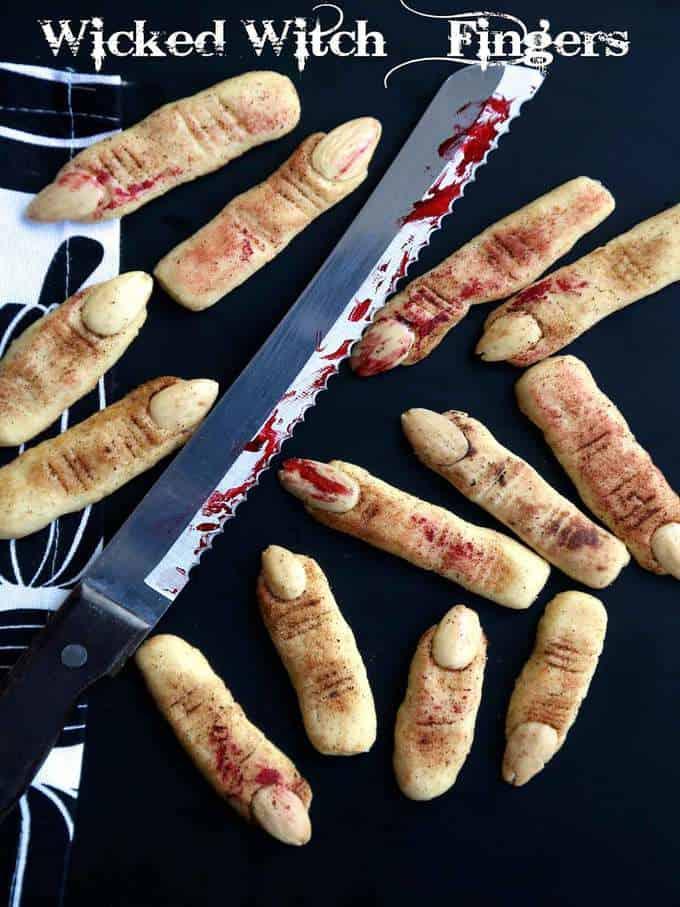 Halloween Wicked Witch Finger Cookies
