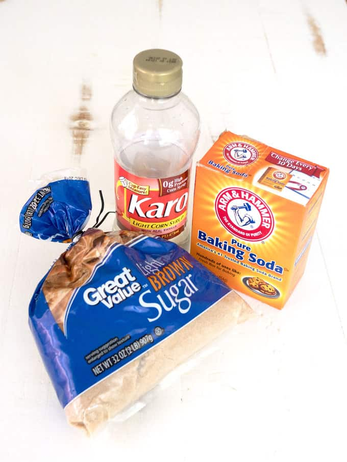 Ingredients for Sponge Candy