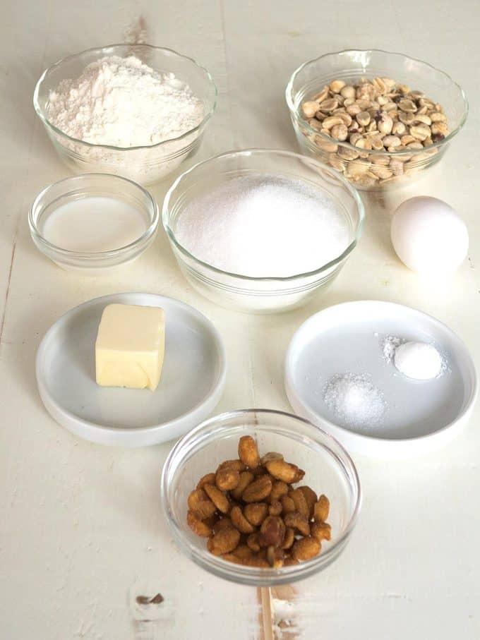 Ingredients for Skinny Peanut Cookies