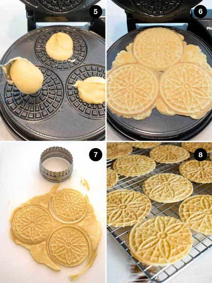 Making Pizzelles on iron