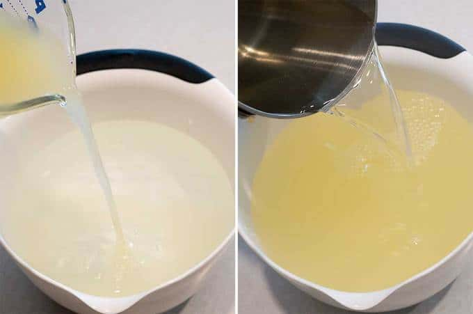 Adding Lemon Juice and Simple Syrup
