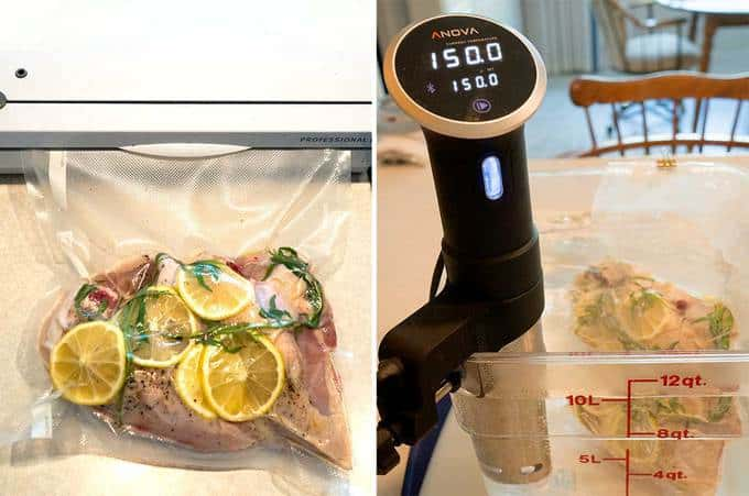 Cooking the Chicken Sous Vide