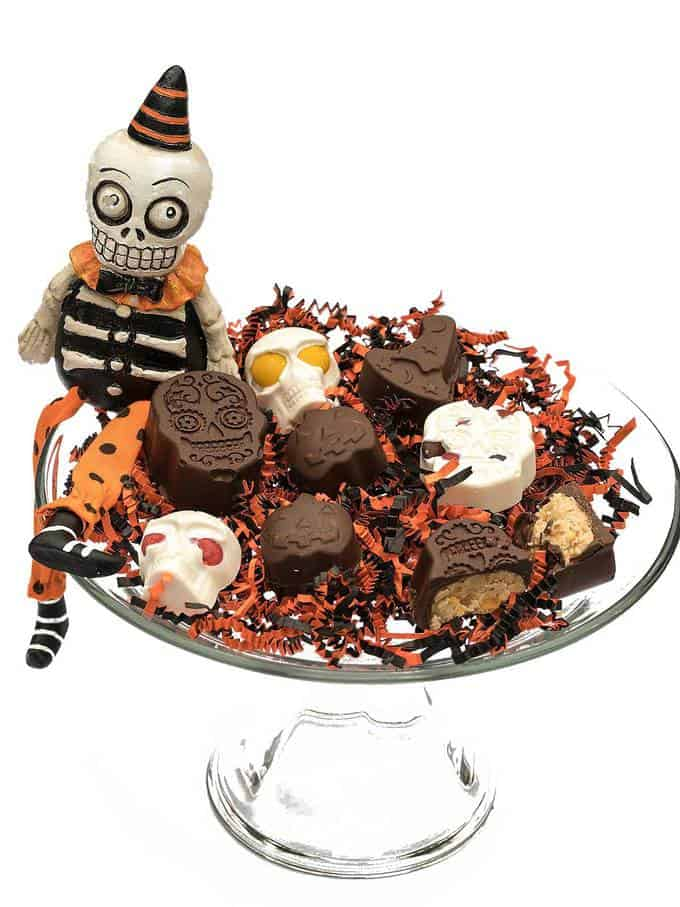 Spooktacular Chocolate Peanut Butter Treats and Bark