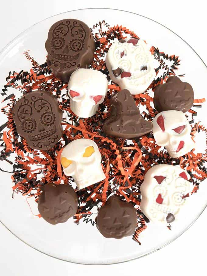 Spooktacular Chocolate Covered Peanut Butter Treats and Halloween Bark