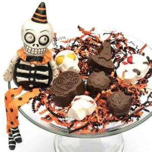 Spooktacular Chocolate Covered Peanut Butter Treats