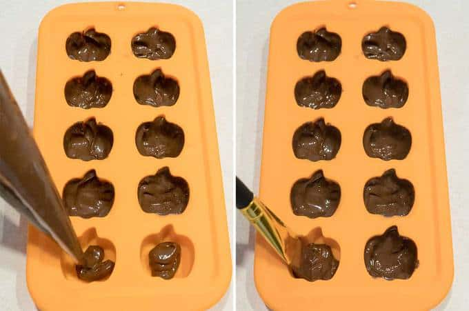 Filling Molds with Chocolate