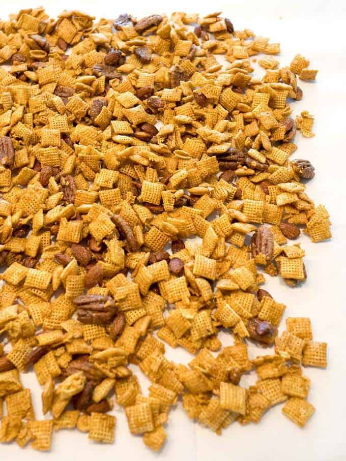 Cooling Caramel Chex Mix