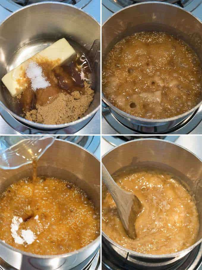 Making the Caramel for the Holiday Caramel Chex Mix