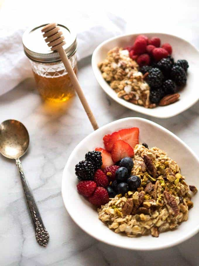 Toasted Fruit and Nut Muesli with Honey