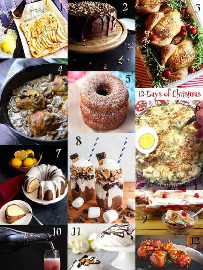 Twelve Days Of Christmas Themed Recipes Pudge Factor