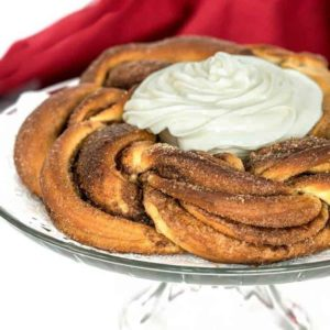 Braided Cinnamon Bread Wreath