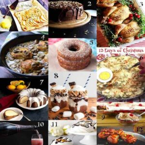 Twelve Days of Christmas Themed Recipes