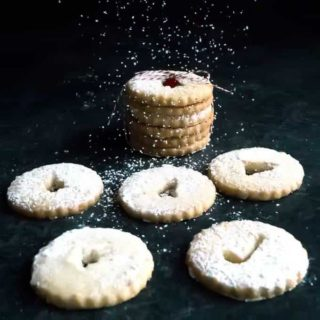 Traditional Austrian Linzer Cookies