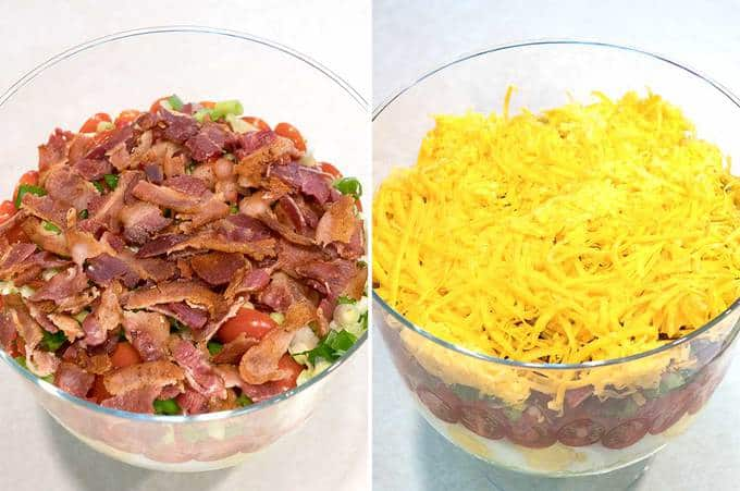 Fifth and Sixth Layers of Salad