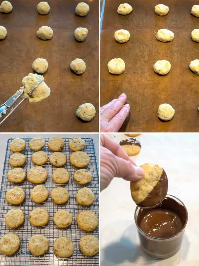 Making the Chocolate Dipped Potato Chip Cookies