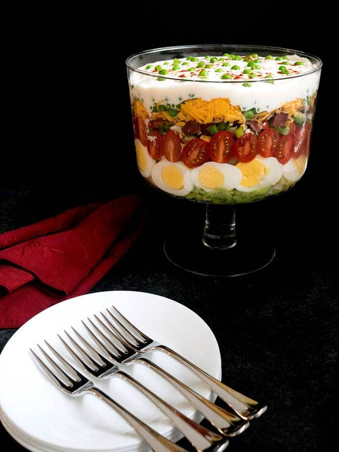 Classic Southern Seven Layer Salad