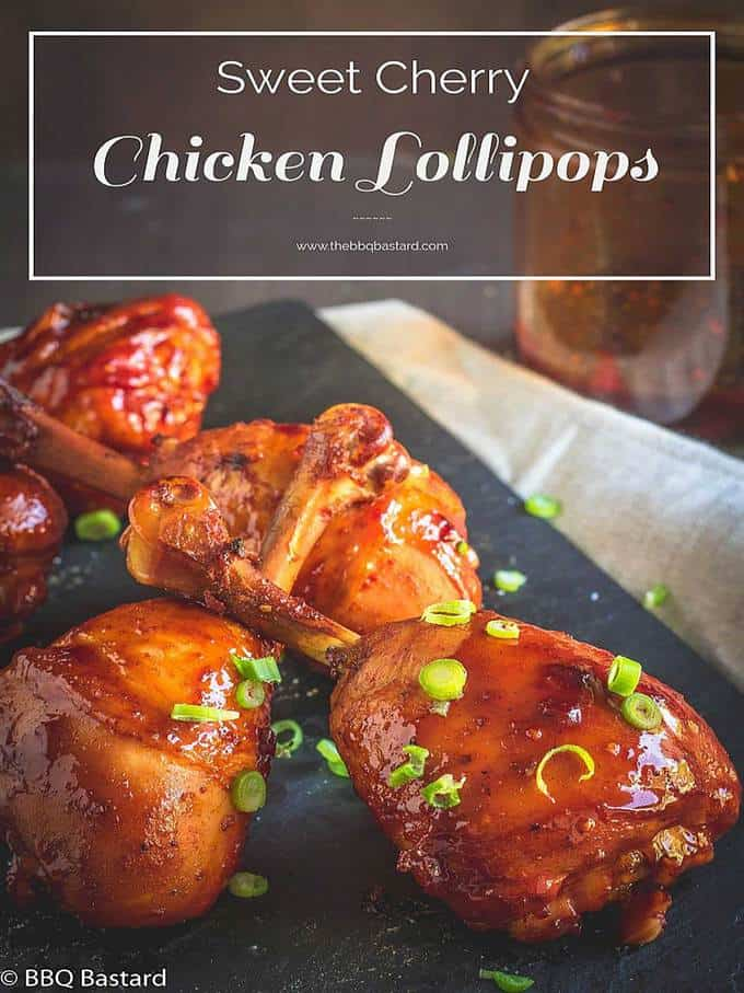 Sweet Cherry Chicken Lollipop