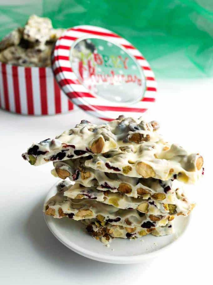 White Chocolate Holiday Bark
