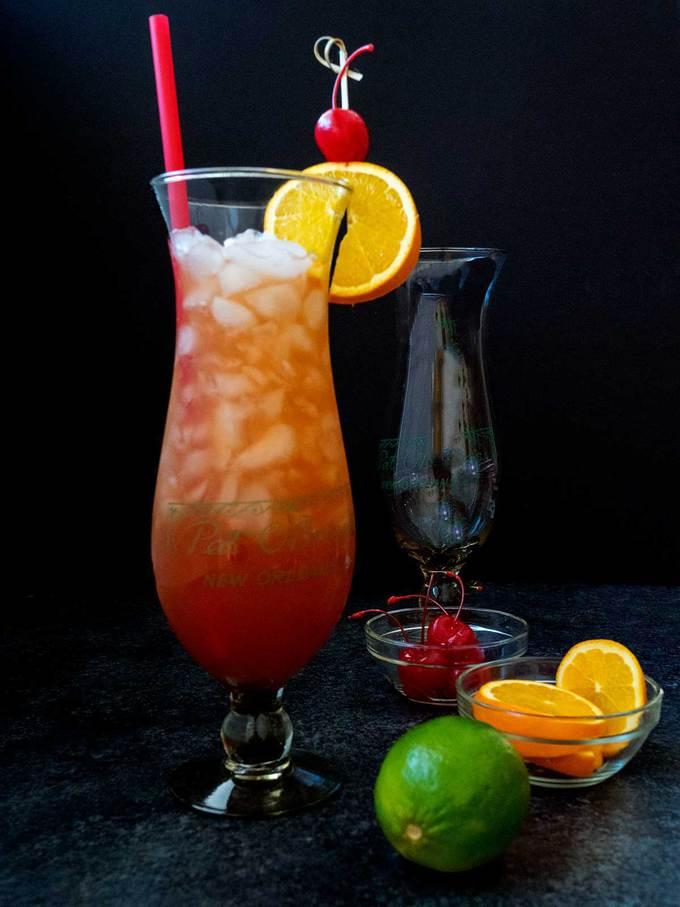 New Orleans Hurricane in Hurricane Glass
