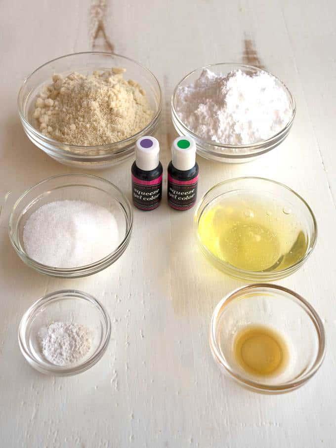 Ingredients for Macaron Shells