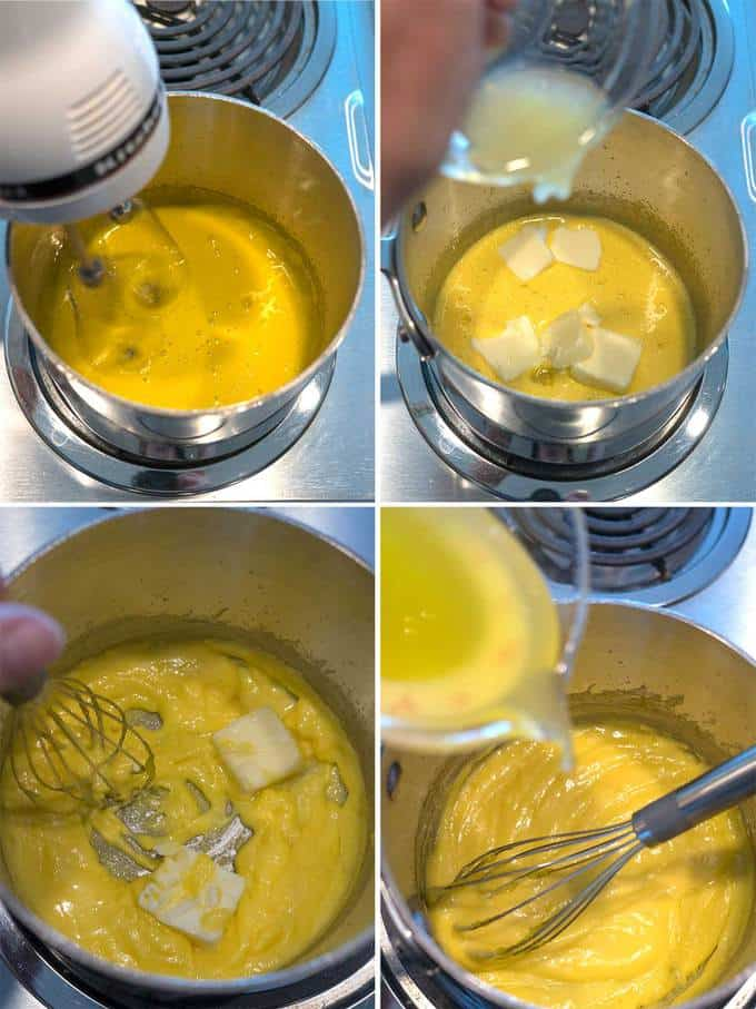 Making the Hollandaise Sauce for Classic Eggs Benedict