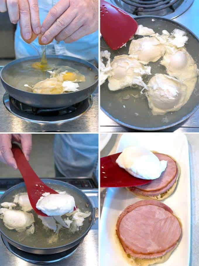 Poaching the Egg for the Classic Eggs Benedict