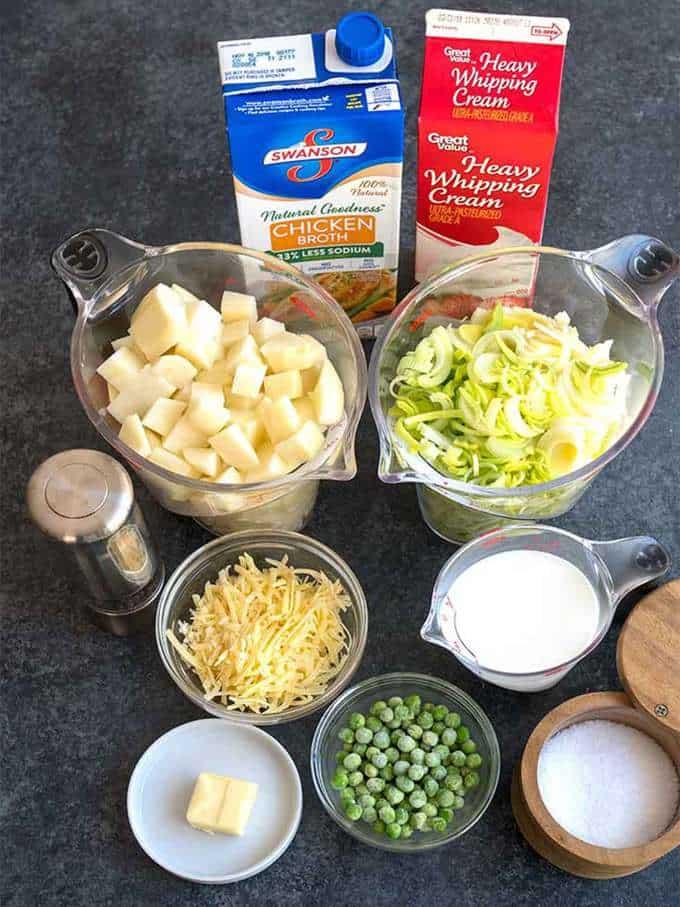 Ingredients for Irish Potato and Leek Soup